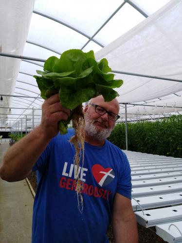 SDSPA Tour 2019- Happy Hydros, Hydroponic Lettuce & owners Mark Scholl.