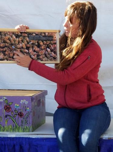 Sunrise Hives presenting 'What's the Buzz on Bees?'- Value Added Ag Day- S.D. State Fair 2019. Courtesy VAADC.
