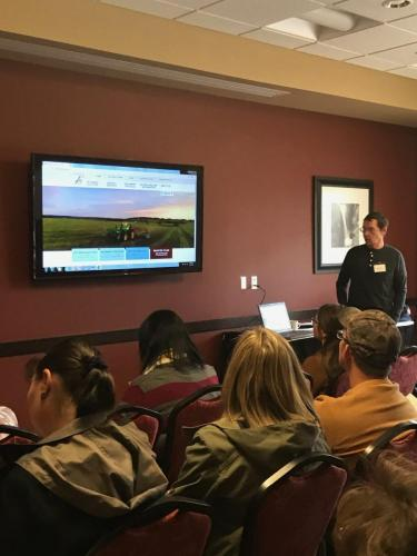 Brian Stambaugh of Belle Valley Ancient Grains at the 2019 Local Foods Conference presenting 'Getting Your Product on the Shelves.'