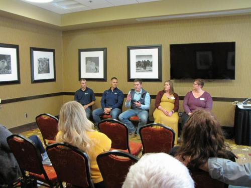 Panel-Gathering Your Finance Team- Dusty Moorhead (Lender), Jeanne Hamilton (NRCS), Rich Knuppe (Farm Credit), Abby Husted (FSA) at the 2019 Local Foods Conference