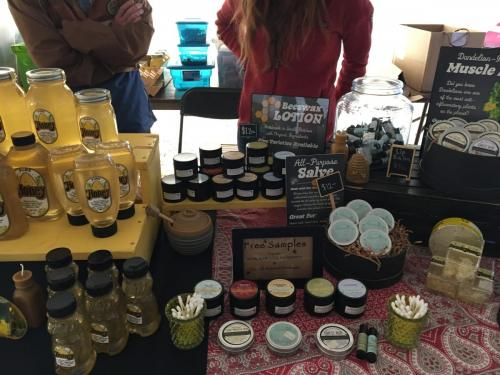 Personal care product selections and honey from Sunrise Hives- Value Added Ag Day- S.D. State Fair 2019.