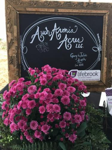 Aronia juice sampled from Auch Aronia Acres- Value Added Ag Day- S.D. State Fair 2019.