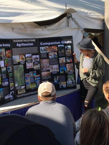 Lindsay Percival of Pleasant Valley Farm presenting 'Farm and Ranch AgriTourism Opportunities'- Value Added Ag Day- S.D. State Fair 2019.