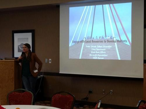 Keynote speaker Kelsey Ducheneaux, fourth-generation beef rancher, member of the Cheyenne River Sioux Tribe, and Natural Resources Director for the Intertribal Agriculture Council, presented Friday, Nov. 1.