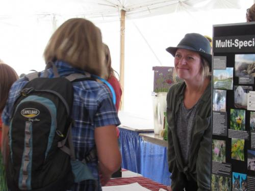 Lindsay Percival of Pleasant Valley Farm shares farm's multi-species grazing and agritourism- Value Added Ag Day- S.D. State Fair 2019.