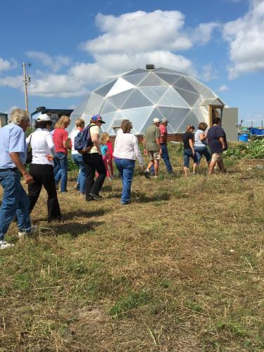 Geothermal Greenhouse at REDCO's 1-acre  Community Garden- SDSPA Tour Sept. 7, 2019.