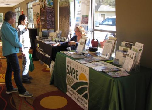 Soil Health Coalition & SARE Vendor Booth at the 2019 Local Foods Conference