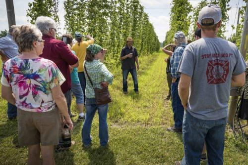 SDSPA 2018 Farm Tour- 6th Meridian Hops