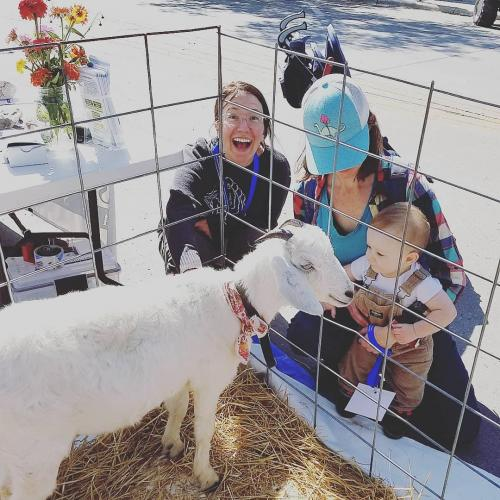 Elinor at AgriCulture on the Square in Rapid City 9-21-19 with SDSPA and Pleasant Valley Farm & Cabins, LLC.