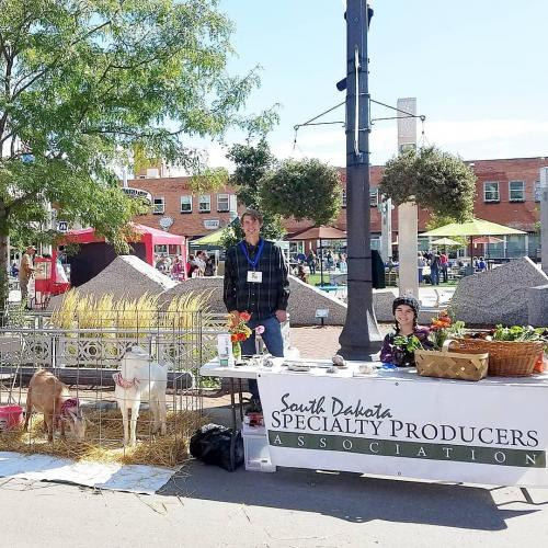 """AgriCulture on the Square in Rapid City 9-21-19 with SDSPA and Pleasant Valley Farm & Cabins, LLC. Participants received signatures at each booth, filling up their """"Ag-Passport"""" to earn SDSU ice cream!"""
