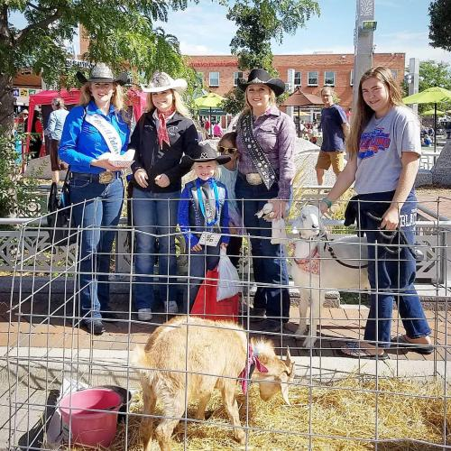 Rocky at AgriCulture on the Square in Rapid City 9-21-19 with SDSPA and Pleasant Valley Farm & Cabins, LLC.