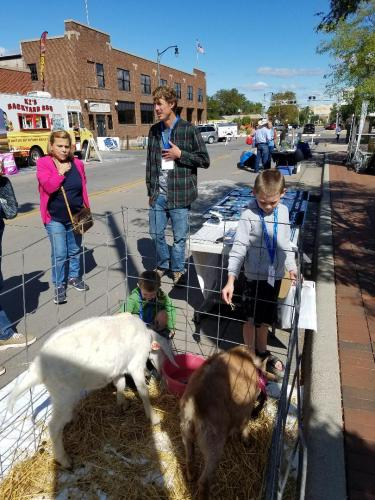 Rocky & Elinor at AgriCulture on the Square in Rapid City 9-21-19 with SDSPA and Pleasant Valley Farm & Cabins, LLC.